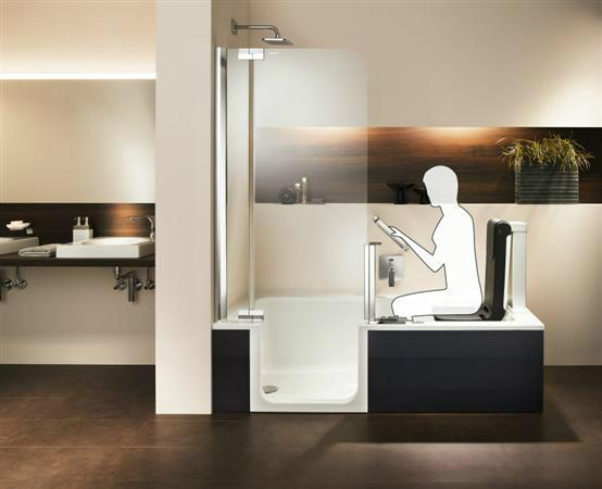 baignoire douche 2 en 1 mod le iris 2r. Black Bedroom Furniture Sets. Home Design Ideas